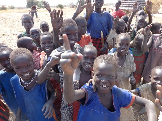 Clean water makes happy, healthy children