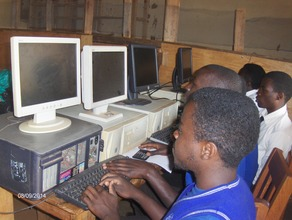 REF students working on computers