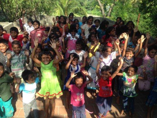 children welcome school new year