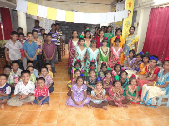 children with new dress