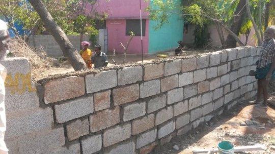 rebuilt compound wall