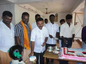 birth day celebration with the children