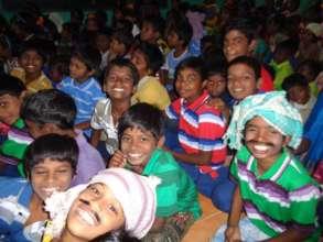 dazzling children in xmas