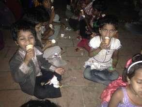 ice cream with children