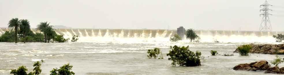 dam over flowing