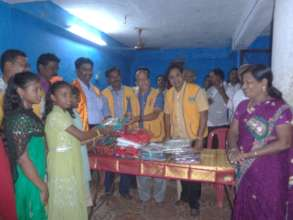 new cloth for children from LION's Club deepavali