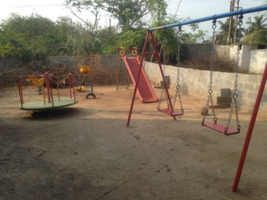 play ground cleaned