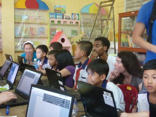 Install 30 Laptops Vietnam Reading Rooms