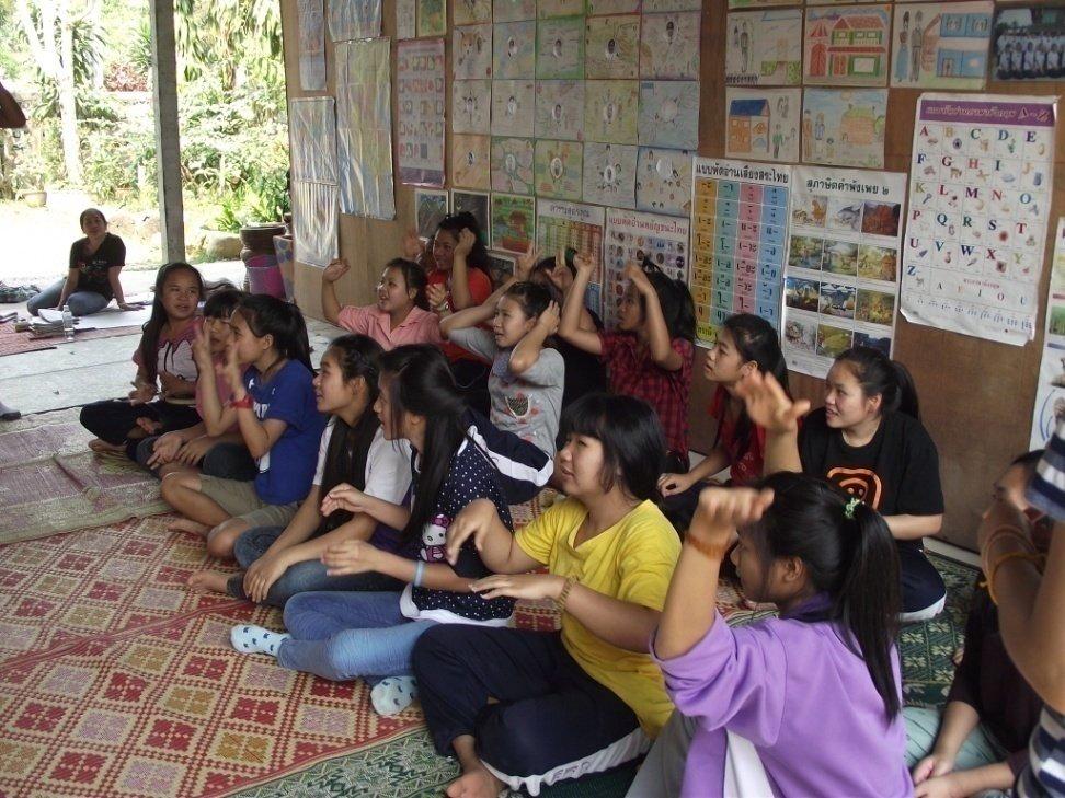 Life skills training at the Chiang Khong Shelter!