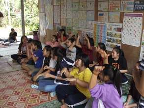Life skills training at the Chiang Khong Shelter!