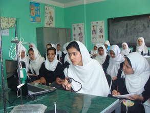 real time skypecast at Rokhshana Girls School