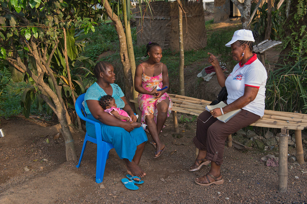 A community health promoter and mother in Liberia