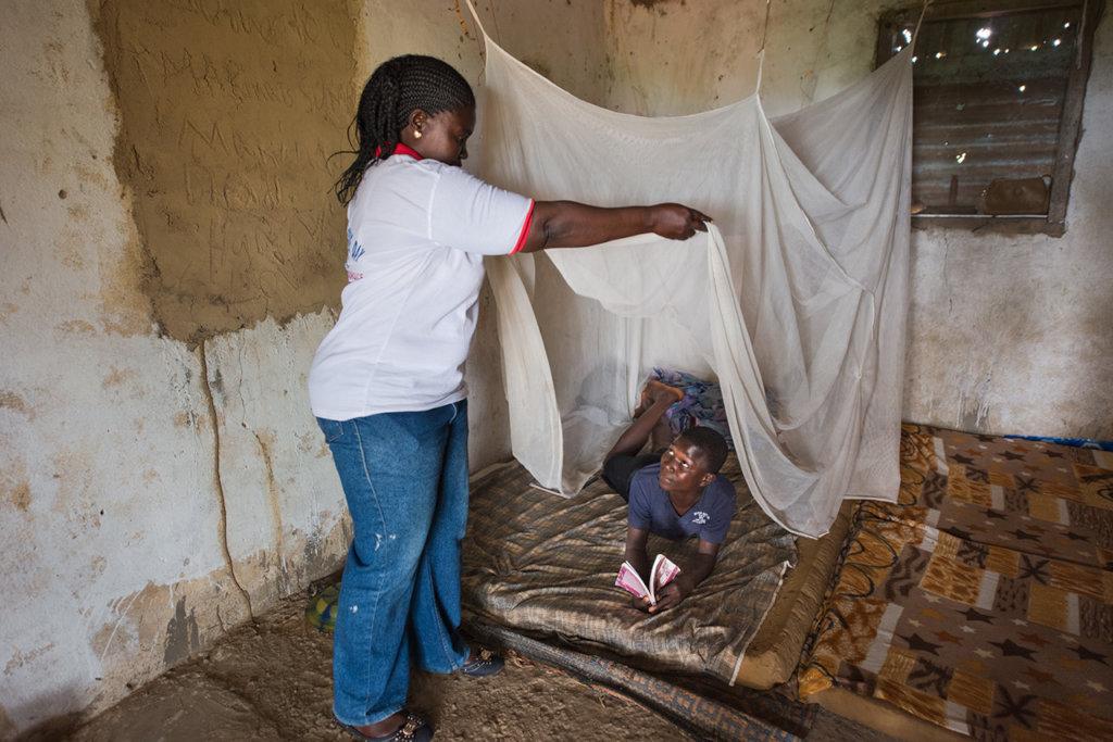 Preventative malaria programs encourage bednet use