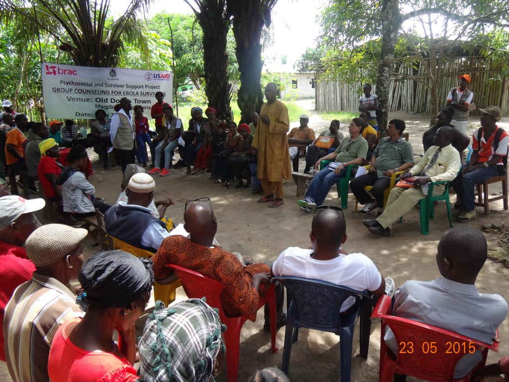 Community meeting in Liberia