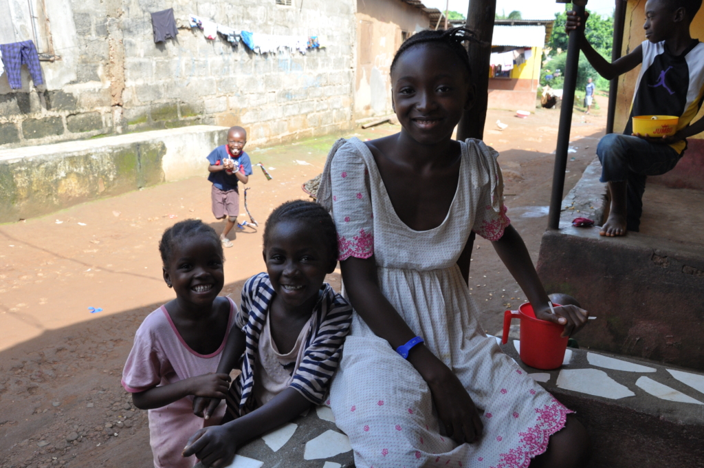 A mother and her children receive vital healthcare
