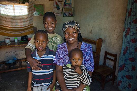 Rachel and three boys  Alison Wright 2013