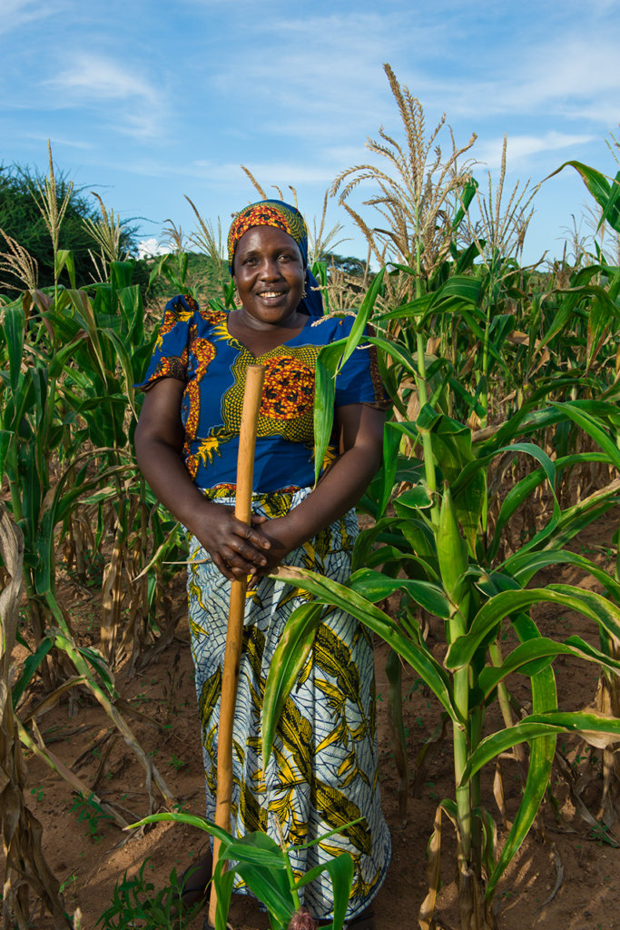 Sophia, in her corn field in Kikuyu.