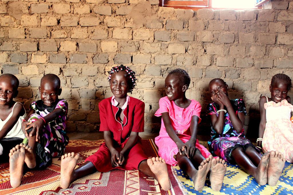 Girls in a South Sudan classroom, BRAC 2013
