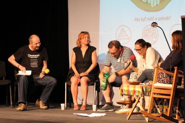 Navrat discussing at Pohoda festival