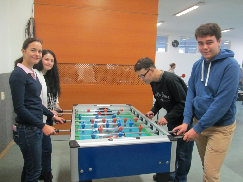 Good game of table football is always helpful