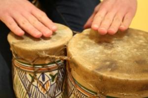 Children can express themselves through music.