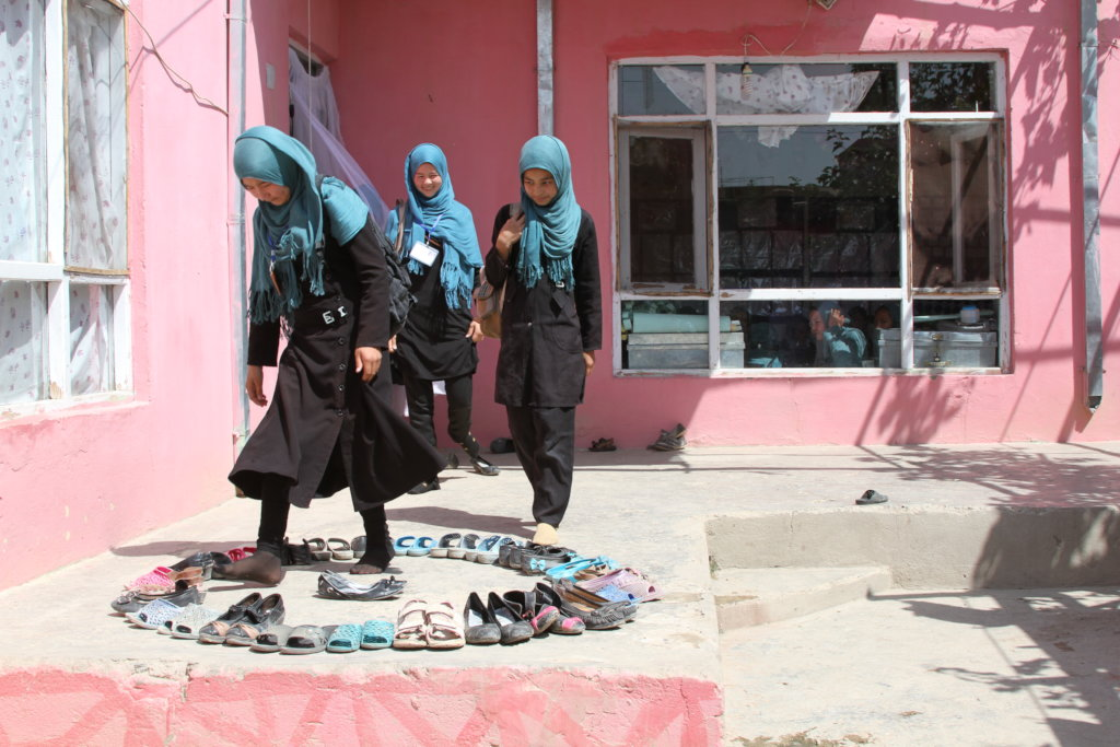 Students at a BRAC school in Afghanistan
