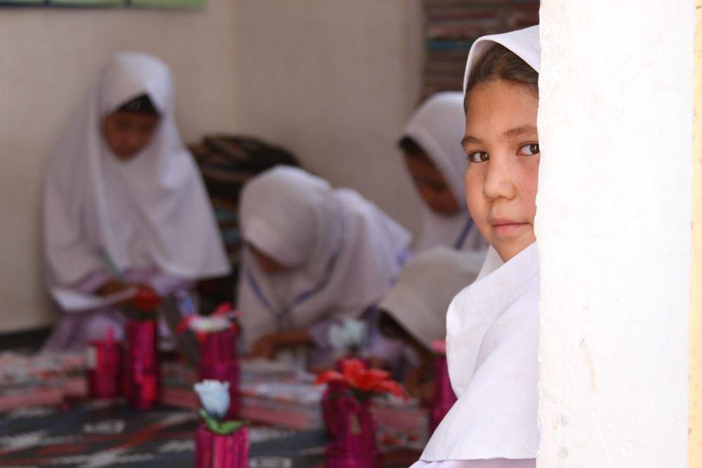 Girls in a community-based school in Afghanistan.