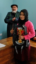 One of the winners of the mathematics competition!