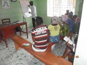 A workshop for kitchen gardeners - Sierra Leone