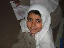 8-year old student Fatima
