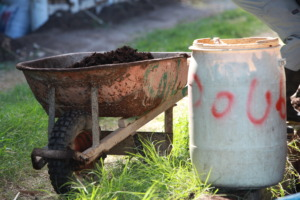 Compost in the sunlight
