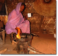 Gisma Ahmed Adam--a beneficiary of the project