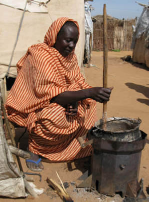 Halima with stove