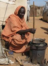 Halima with stove