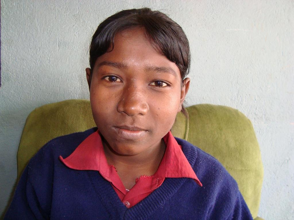 Kusum, in her school uniform