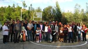 Meeting Participants in Tinjaca's anti-fracking pr