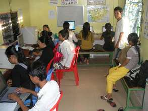 Empowering Youth Cambodia's Computer Lab