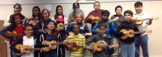 Students at Challenger Middle learn ukulele!