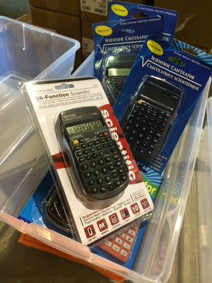 Calculators at our Warehouse