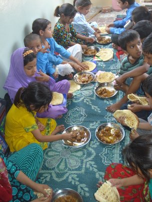 80 children enjoyed Mutton Korma and Naan