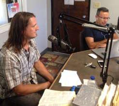 Project leader Wayne on Nueva Vida radio.