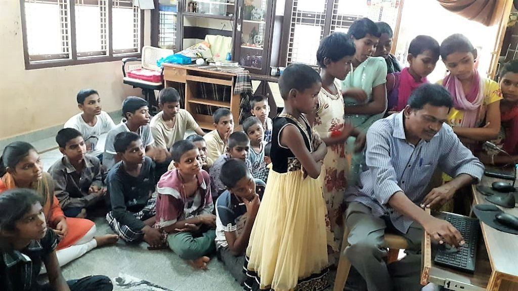 Empowering skills training in computers for orphan