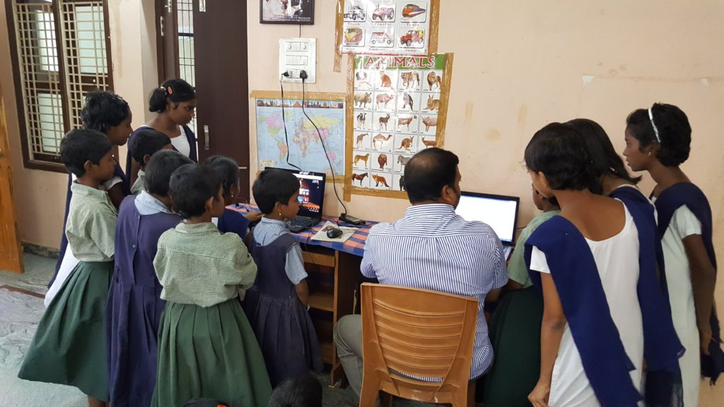 Advanced computer skills training to poor orphans