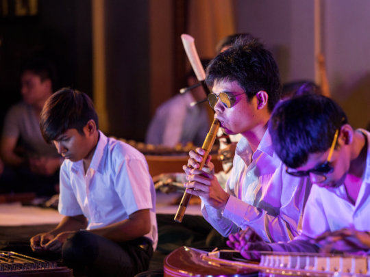 KCDI students performing at Kampot Arts Festival
