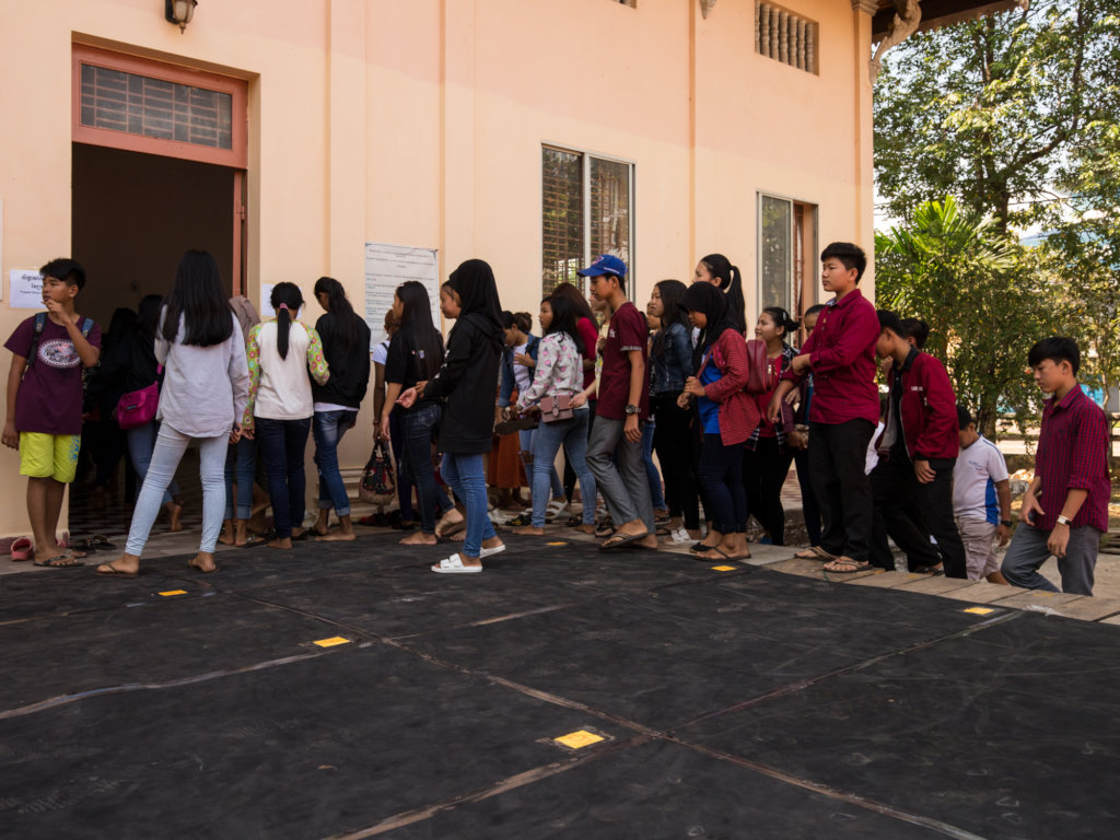 The Queue to get in at our school - KCDI
