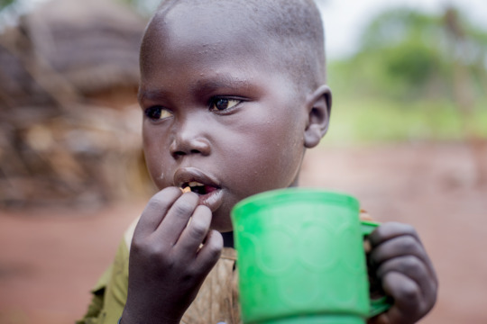 You're helping feed and shelter displaced children