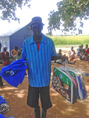 You helped provide emergency supplies for Madut.