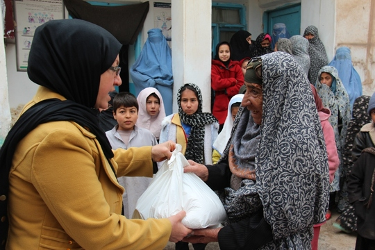 Food Being Distributed