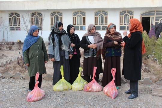 Women Receiving Food