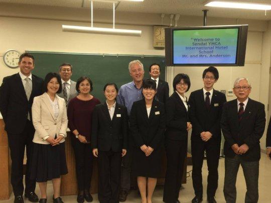 Sendai YMCA Hotel College Visit